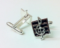 Treble Clef on Stave Cufflinks